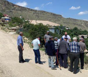 Накануне с рабочим визитом сельское поселение посетил глава района Нурмагомед Задиев